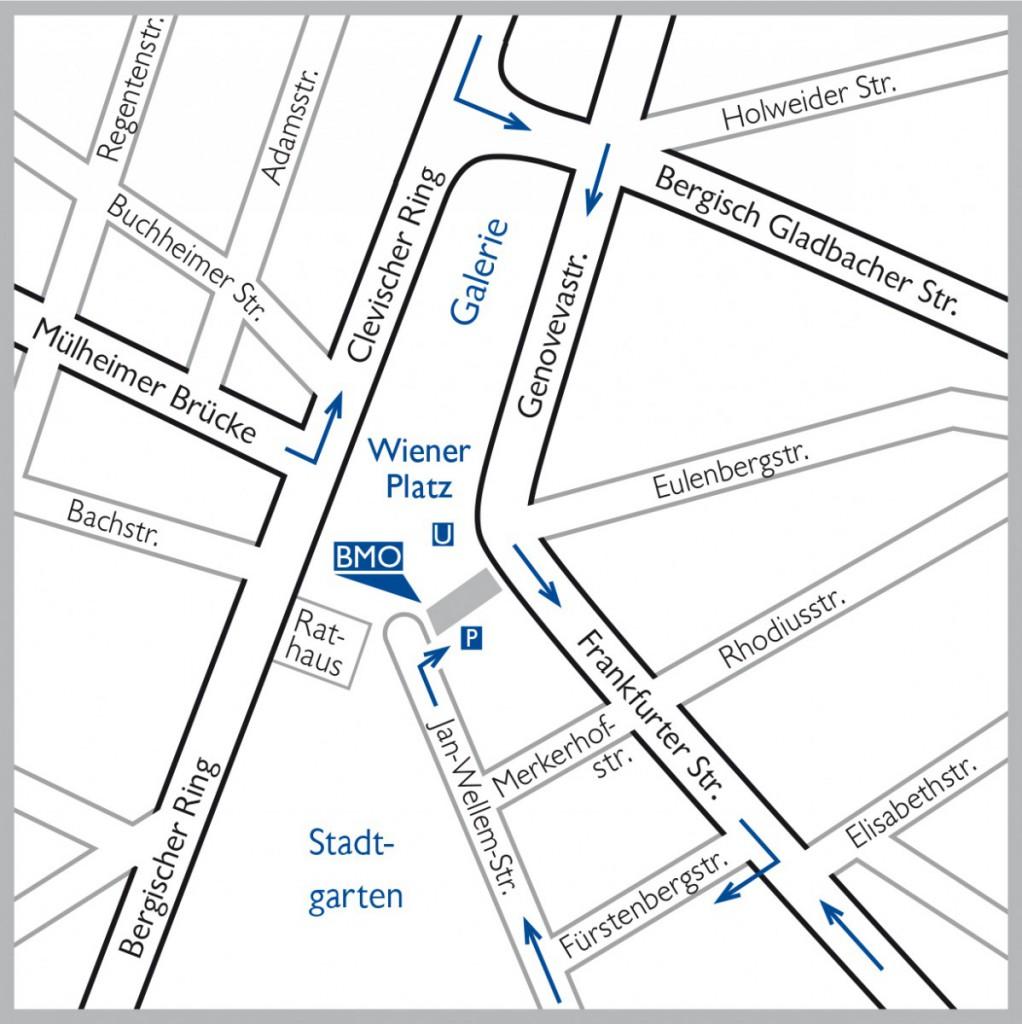 BMO Anfahrt und Lageplan