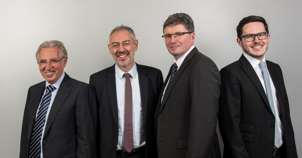 Die Partner: Günter Billstein, Bernhard Mehlis, Wolfgang Kaup, Thomas Lenzen